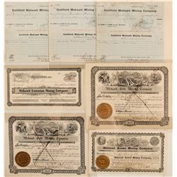 Mohawk Mining Company Stock Certificates & Checks