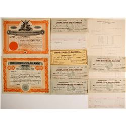 Reorganized Cracker Jack Mining Co. Stocks & Ephemera