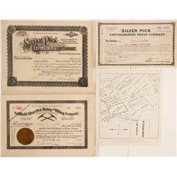 Silver Pick Mining Companies Stock Certificates