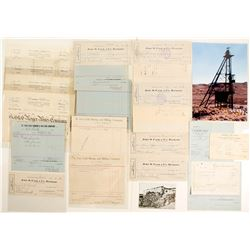 St. Ives and Goldfield Merger Mining Stocks & Ephemera