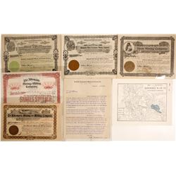 Stocks & Ephemera from Three Goldfield Mines: Albemarle, Dixie, and Goldfield Amalgamated
