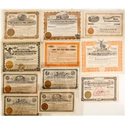 Manhattan Mining District Stock Certificate Collection