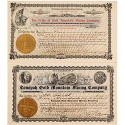 Two Different Gold Mountain Mining Stock Certificates (Divide)