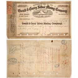 1869 Gould & Curry Stock Certificate