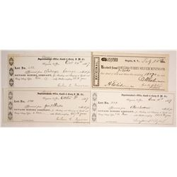 Gould & Curry Assay Receipts including Jonathan Dalls