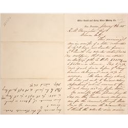Letter form the president of the Gould & Curry to H. M. Yerington