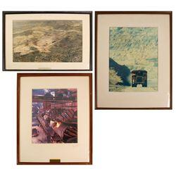 3 Large Framed Kennecott Copper Photos