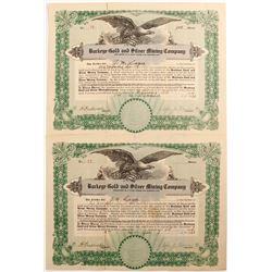 Buckeye Gold & Silver Mining Co. Stock Cert.
