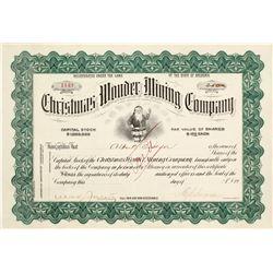 Stock Cert. Christmas Wonder Mining Co.