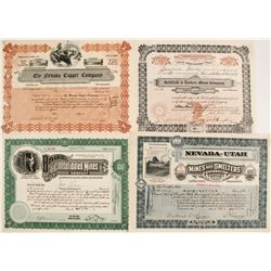 Stock Certificates for Nevada Mining Companies Inc. in Maine