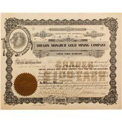 Oregon Monarch Gold Mining Stock