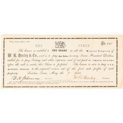 Very Early Tennessee Mining Stock Certificate