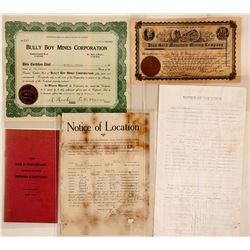 Piute County, Utah Mining Stock Certificates & Ephemera