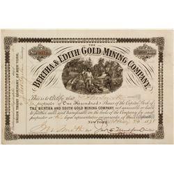 Bertha & Edith Gold Mining Stock