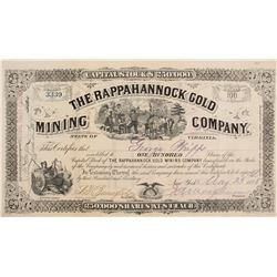 Rappahannock Gold Mining Com. STock Cert.