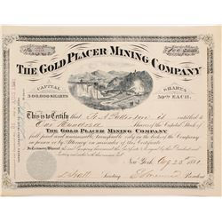 Gold Placer Mining Company Stock Cert.