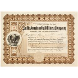 Pacific American Gold Mines Co. Stock Certificate