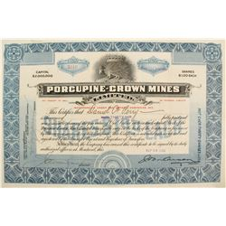 Porcupine-Crown Mines Stock Certificate