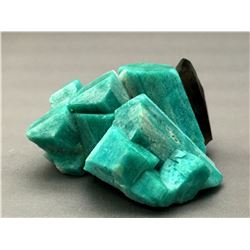 Microcline v. Amazonite and Quartz v. Smoky from Smoky Hawk Mine, Colorado