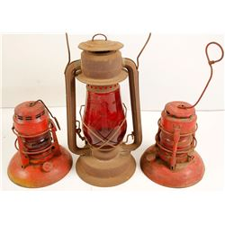 Red Globe Caboose Lamps