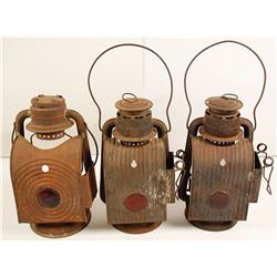 Three Railroad Lanterns
