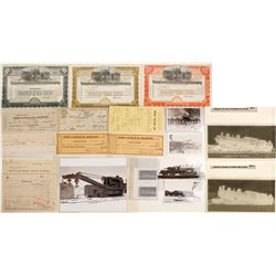Tonopah & Goldfield Railroad Stock Certificates and Ephemera