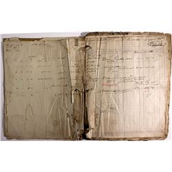 Virginia & Truckee Railroad Waybills Ledger