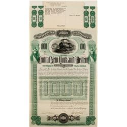 Central NY and Western Railroad Bond