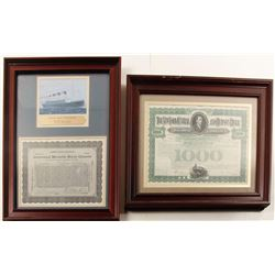 International Mercantile Maritime Co. (Titanic) and New York Central Railroad Bond