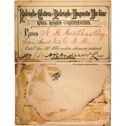 Raleigh and Gaston & Raleigh and Augusta Air Line Rail Road Co. Pass, 1874