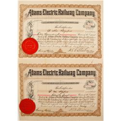 Adams Electric Railway Stock