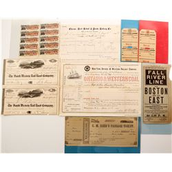 US Railroad & Steamer Ephemera