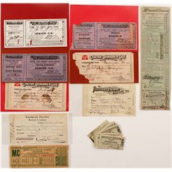 US Railroad Ticket Grab-bag