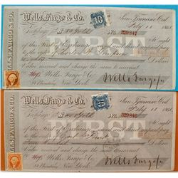 Two Wells Fargo & Co. Exchanges with California Revenue Stamps