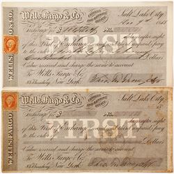 Two Wells Fargo First of Exchanges, Salt Lake City, Utah, 1868 & 1869