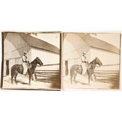 Real Photo Postcard of Ronald Reagan on Horseback