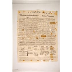 1876 Copy of the Declaration of Independence