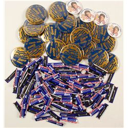 Clinton/Gore Campaign Button Horde
