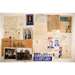 Political Papers, Official Votes & Ephemera