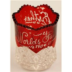 Louisiana Purchase Ruby Toothpick Holder