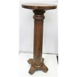 Oak Pedestal, Late 19th Century