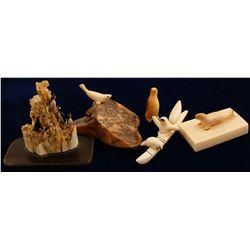 Vintage Alaskan Ivory Figurines