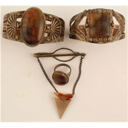 Vintage Agate and Silver Jewelry