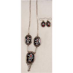 Koshari Clown Kachina Necklace Set
