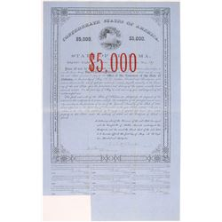 Confederate States of America Bond, State of Alabama