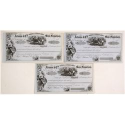 Adams & Co. Unissued Bank Notes