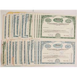 Plasticrete Corporation Stock Certificates