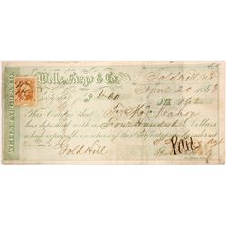 Wells Fargo & Co. Checks and Receipts