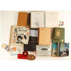Books, Telephone Collectibles, Vinyl Records, Stock Cert.