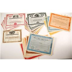 General US & Railroad Stock Certificates